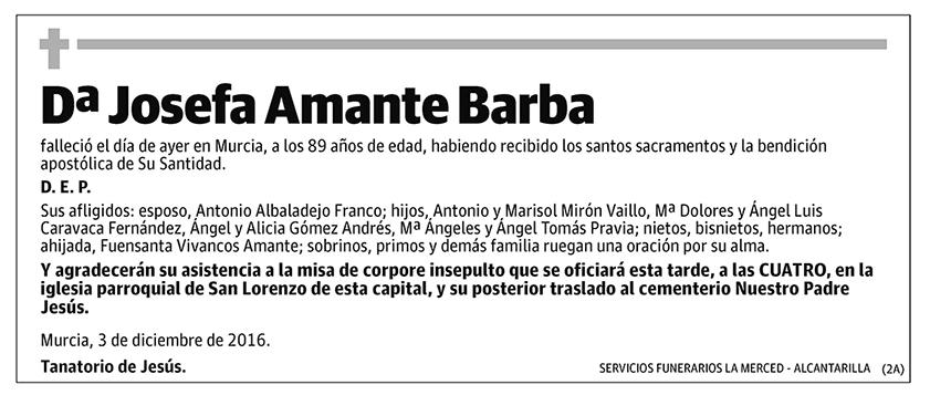 Josefa Amante Barba