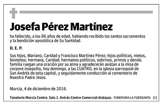 Josefa Pérez Martínez