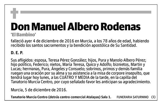 Manuel Albero Rodenas