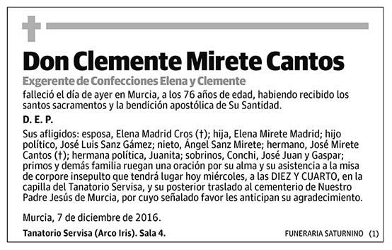 Clemente Mirete Cantos