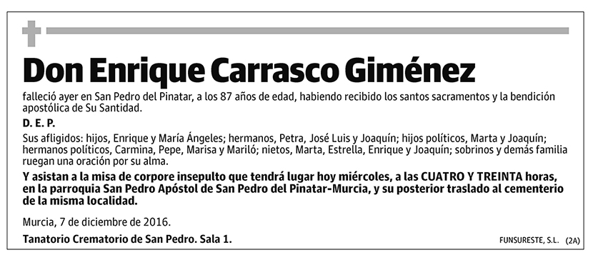 Enrique Carrasco Giménez