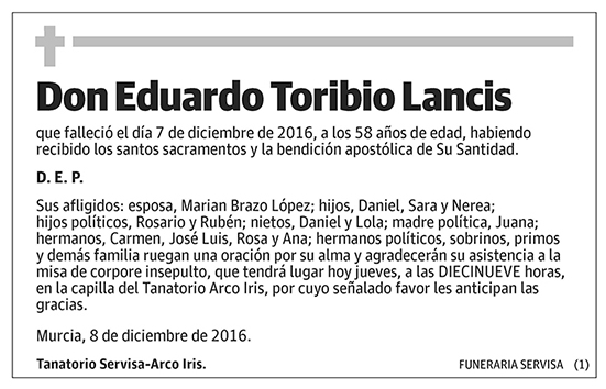 Eduardo Toribio Lancis