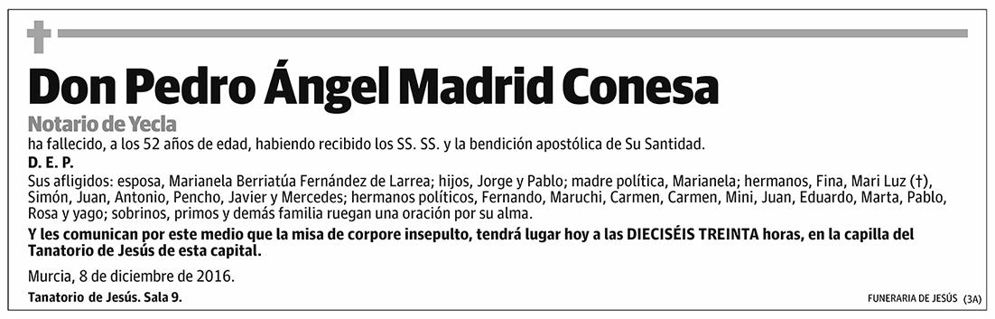 Pedro Ángel Madrid Conesa