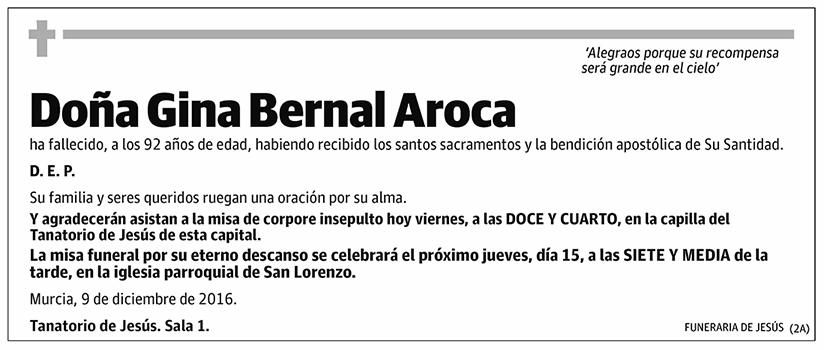 Gina Bernal Aroca