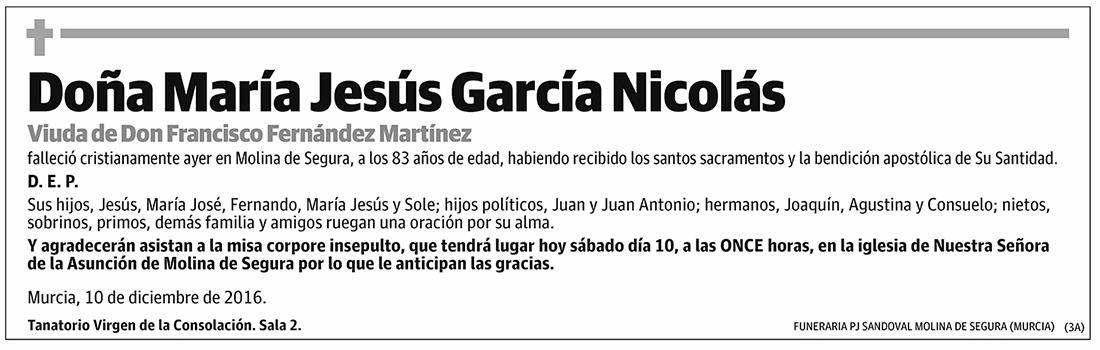 María Jesús García Nicolás