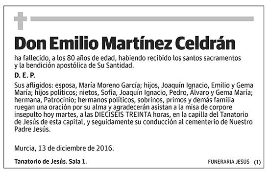 Emilio Martínez Celdrán