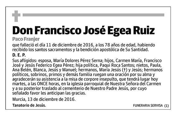 Francisco José Egea Ruiz