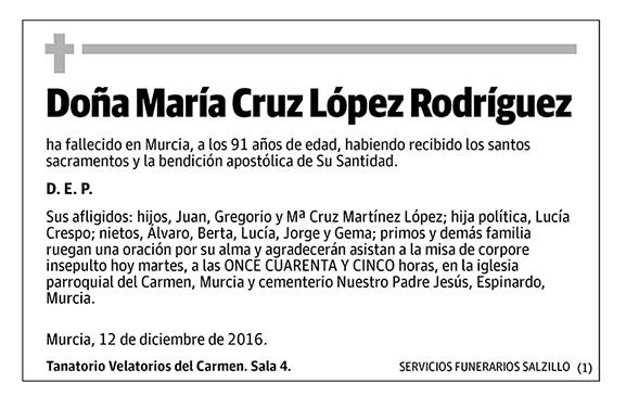 María Cruz López Rodríguez