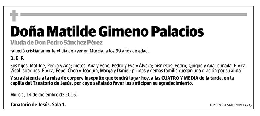 Matilde Gimeno Palacios