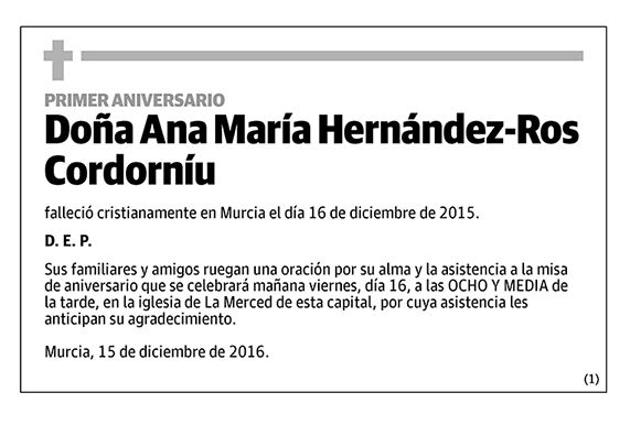 Ana María Hernández-Ros Cordorníu