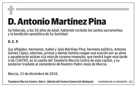 Antonio Martínez Pina