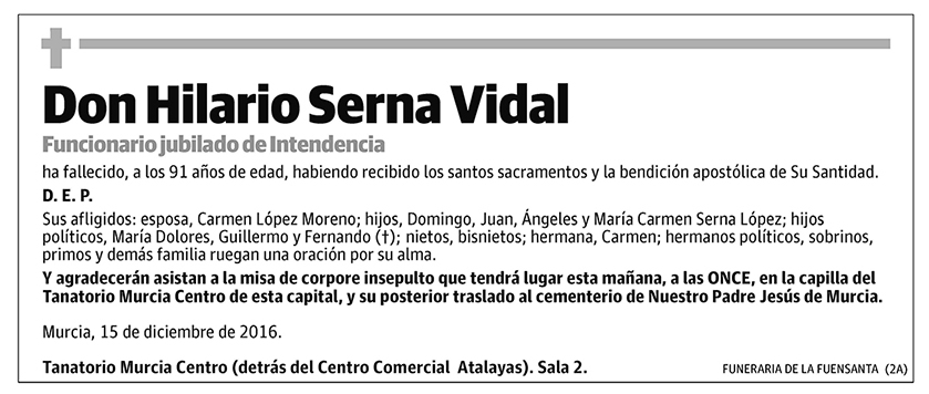Hilario Serna Vidal