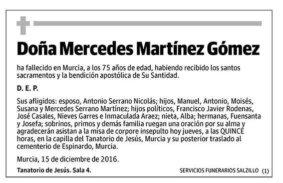 Mercedes Martínez Gómez