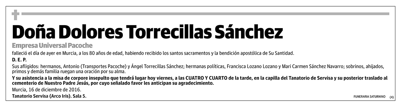 Dolores Torrecillas Sánchez