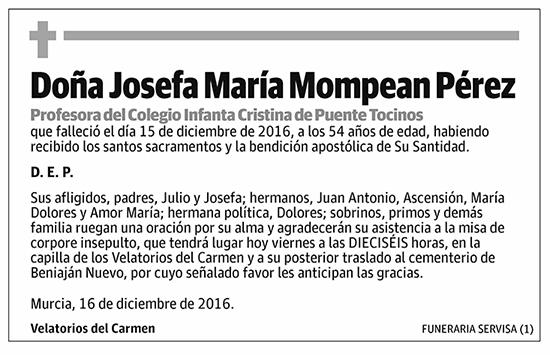 Josefa María Mompean Pérez