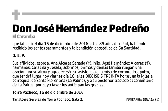 José Hernández Pedreño