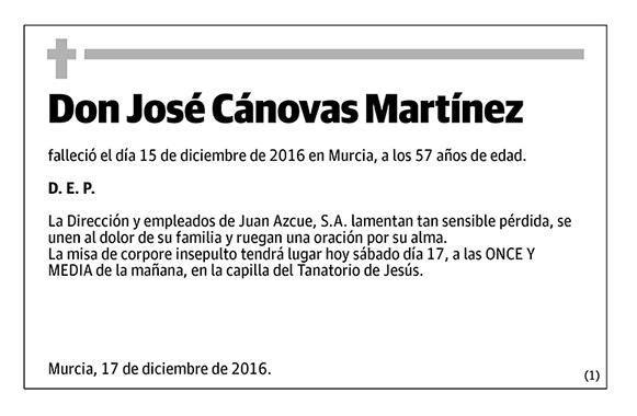 José Cánovas Martínez