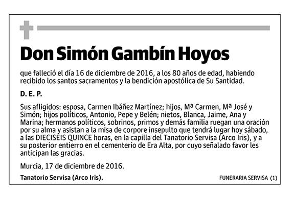 Simón Gambín Hoyos