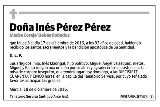 Inés Pérez Pérez