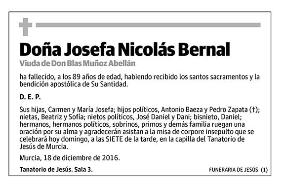 Josefa Nicolás Bernal