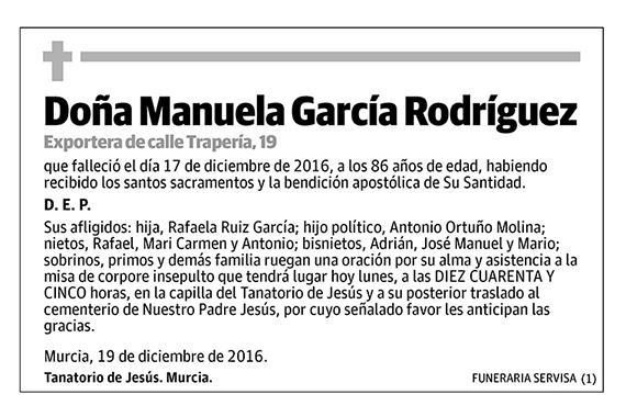 Manuela García Rodríguez