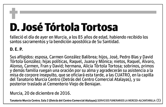 José Tórtola Tortosa