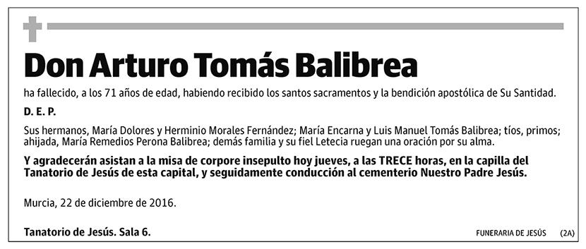 Arturo Tomás Balibrea