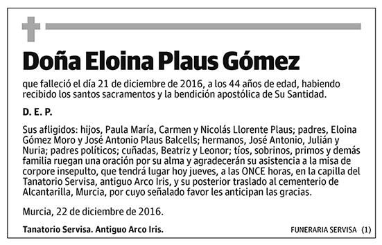 Eloina Plaus Gómez