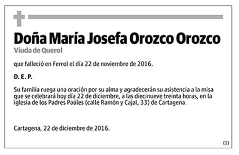 María Josefa Orozco Orozco