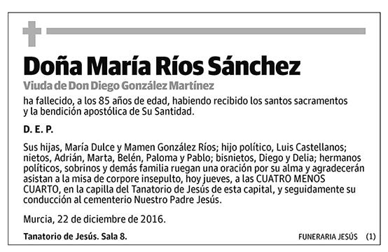 María Ríos Sánchez
