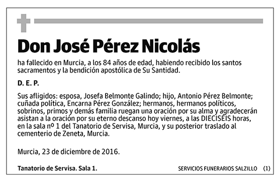 José Pérez Nicolás