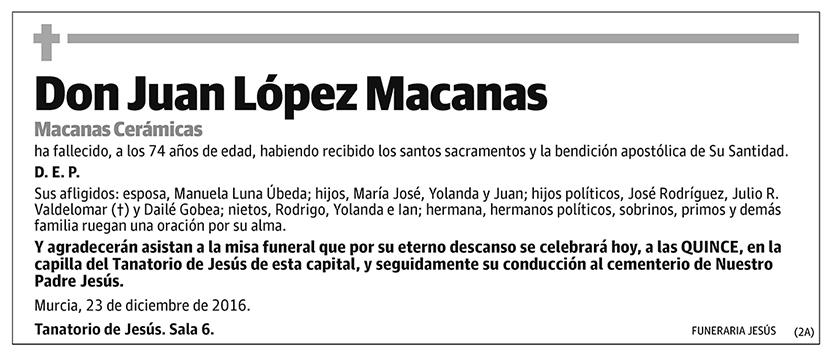 Juan López Macanas