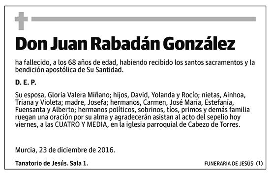 Juan Rabadán González