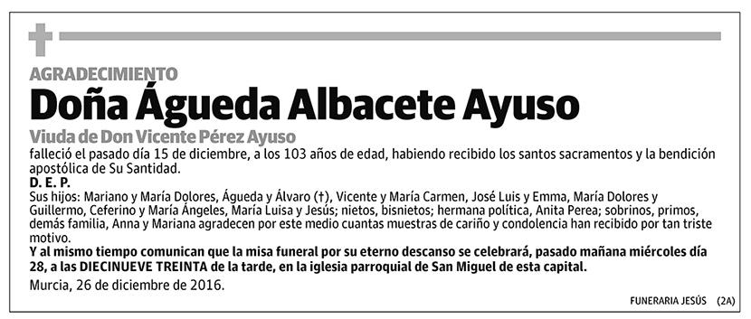 Águeda Albacete Ayuso