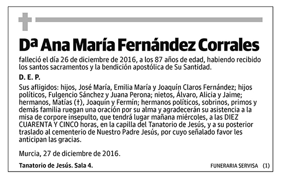 Ana María Fernández Corrales