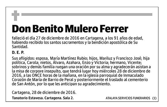 Benito Mulero Ferrer