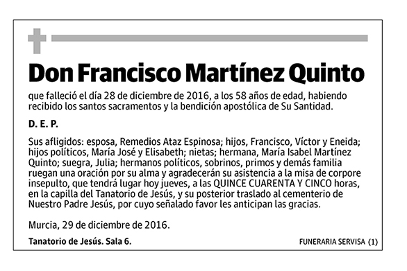 Francisco Martínez Quinto