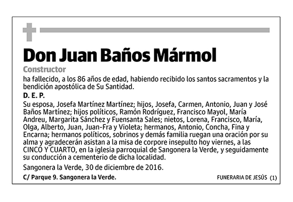 Juan Baños Mármol