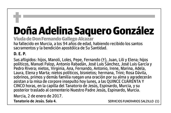 Adelina Saquero González