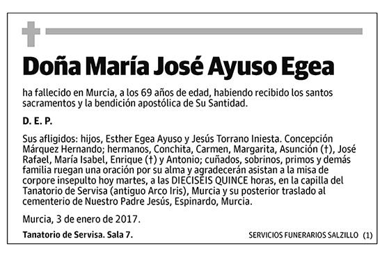 María José Ayuso Egea