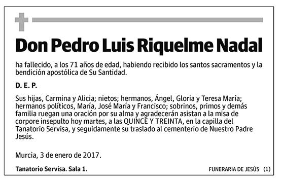 Pedro Luis Riquelme Nadal