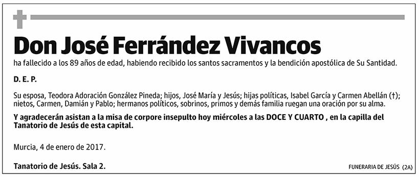 José Ferrández Vivancos