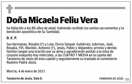 Micaela Feliu Vera