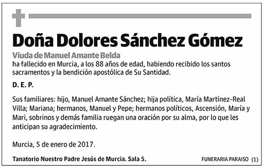 Dolores Sánchez Gómez