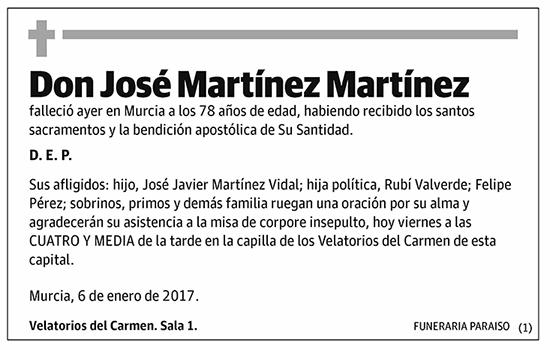 José Martínez Martínez