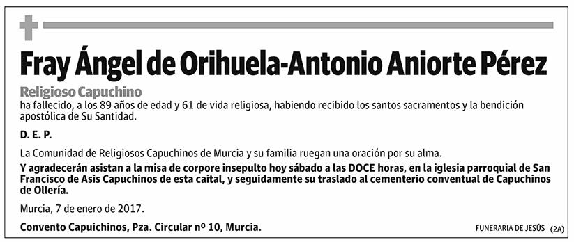Fray Ángel de Orihuela-Antonio Aniorte Pérez