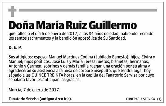 María Ruiz Guillermo