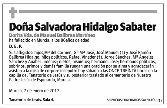 Salvadora Hidalgo Sabater