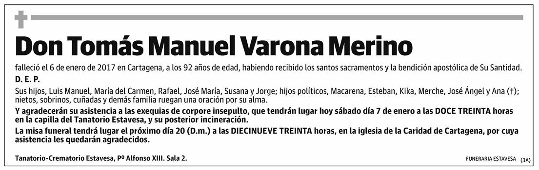 Tomás Manuel Varona Merino