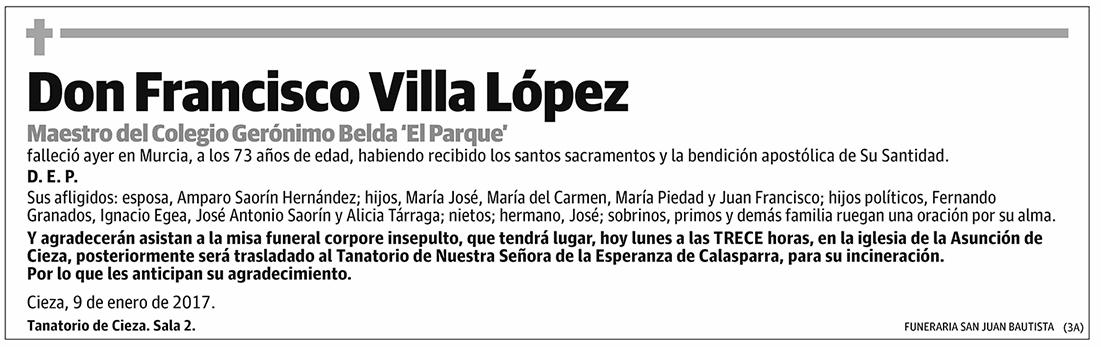 Francisco Villa López